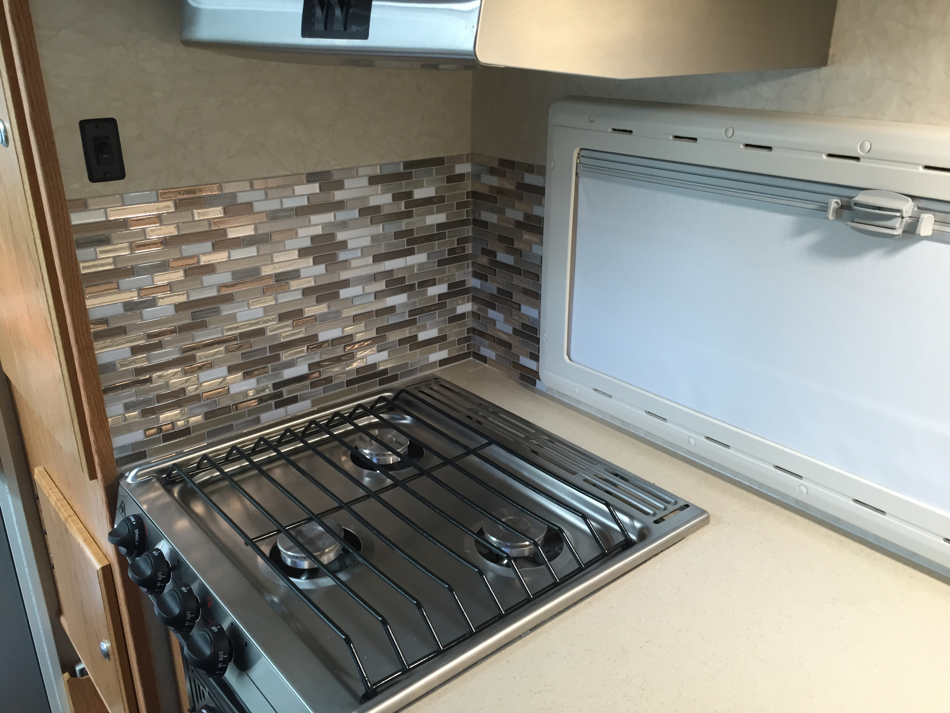 Rv Kitchen Backsplash Modification Truck Camper Adventure