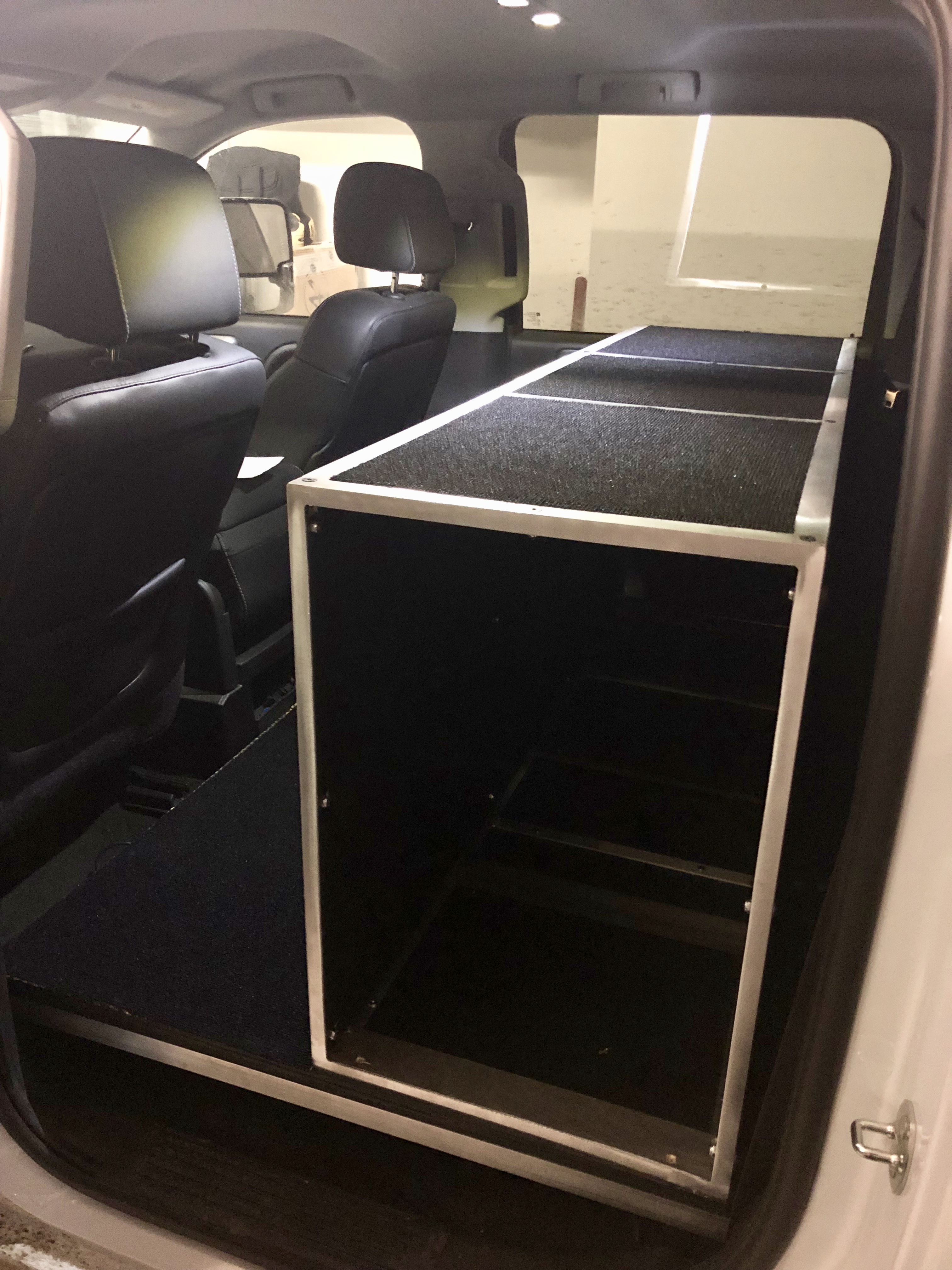 Backseat Drawer Storage System Truck Camper Adventure